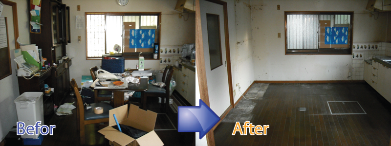 三重県で引越しの際の不用品回収や不用品処分を承ります。