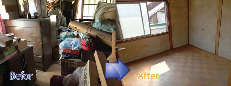 遺品整理・ごみ屋敷の片付け・特殊清掃まで三重リサイクルジャパンにお任せください。